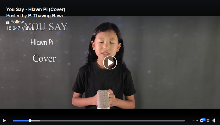 You Say Cover by Hlawn Pi Chin Celebrity P Thawngbawi Fanu